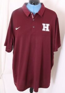 Harvard University Crimson Nike Dry Dri-Fit Casual Elite Polo Shirt Men's M