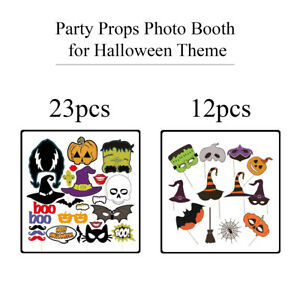 Halloween Theme Selfie Party Props on a Stick Funny Photo Booth for Decoration
