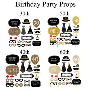 20pcs Funny Photo Booth Props Birthday Party Decoration for Dress Up Accessories