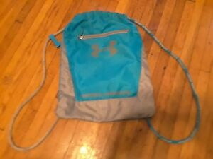 Under Armour Child's Tote activewear backpack Blue With Gray Trim