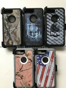 Camo Defender Case With Belt Clip & Screen For iPhone 7 Plus & iPhone 8 Plus