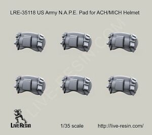 Live Resin 1:35 US Army N.A.P.E Pad for ACH MICH Helmet - Resin Detail #LRE35118