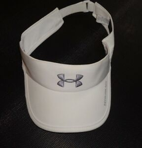 UNDER ARMOUR Women's White Visor Cap or Hat - golf or tennis One Size