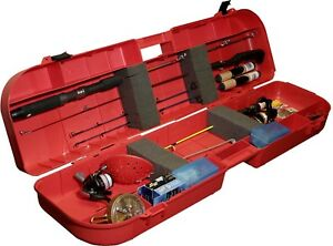 Ice Fishing Rod Box Case Fish Tackle Lure Tip Ups 8 Rods Lockable Carry Storage