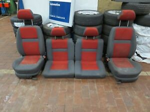 VW Lupo Gt 6x Arosa Interior Design Grey Red Seats Front Back Seat Rear Velour