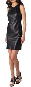 Spring Designer Lamb New Leather Women Dress Cocktail Stylish Party Wear  D-018