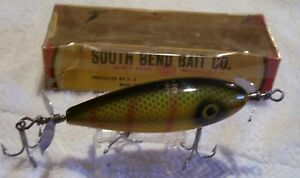 BEAUTIFUL VINTAGE SOUTH BEND SURF-ORENO LURE  100318POTS  BOX NO#  GLARE