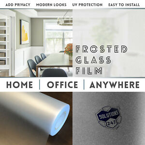 Frosted Glass Film Office Bedroom Bathroom Home Window Tint - Static Cling Back
