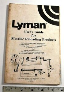 1980 - LYMAN USERS GUIDE FOR: O-MAG & SPAR-T PRESSES D-7 SCALE #55 POWDER MEAS