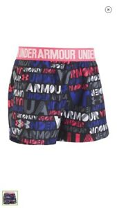NWT UNDER ARMOUR TODDLER GIRLS SHORTS SIZE 4T NEW Work Out Yoga Wordmark Black