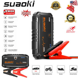 Suaoki 12V 2000A Car Jump Starter Booster Portable Battery Charger USB PowerBank