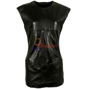 Spring Designer Lamb New Leather Women Dress Cocktail Stylish Party Wear  D-183