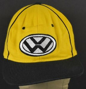 Yellow VW Letters Logo Car Co Embroidered Baseball Hat Cap Adjustable Snapback