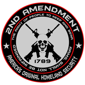 2nd Amendment Logo Gun Rights Vinyl Decal Bumper Sticker Car Truck Laptop USA