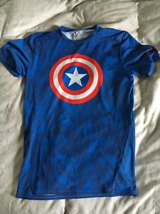 Avengers Compression T-Shirt Captain America Iron Man Hulk XL