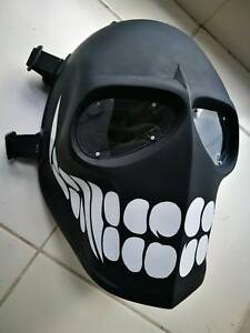ARMY of TWO PAINTBALL AIRSOFT BB GUN PROP HELMET GOGGLE MASK Black Punisher 11
