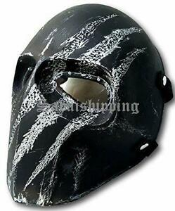 ARMY of TWO PAINTBALL AIRSOFT BB GUN PROP HELMET GOGGLE MASK Black Punisher 10