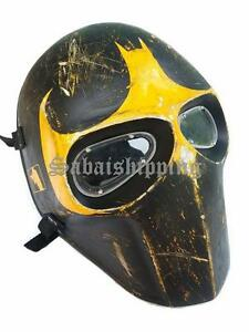 ARMY of TWO PAINTBALL AIRSOFT BB GUN PROP HELMET GOGGLE MASK Black Punisher 09