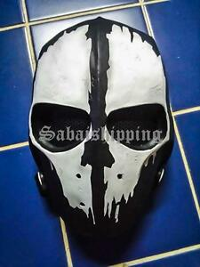 ARMY of TWO PAINTBALL AIRSOFT BB GUN PROP HELMET GOGGLE MASK Black Punisher 05