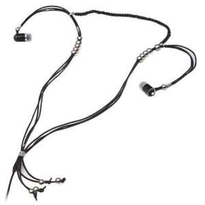 Viewquest Intelligent Jewellery Necklace Earphones Head Phones - Silver Beads