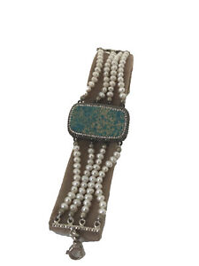 Turkish Handmade Jewelry Turquoise 925 Silver Bracelet - 232