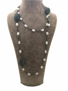 Turkish Handmade Jewelry Pearl 925 Silver Woman Necklace 35