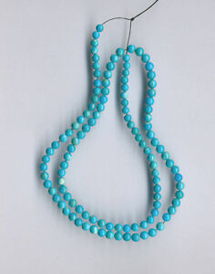 MEXICAN TURQUOISE ROUND BEADS - 17.75