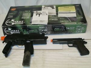 COMBAT ZONE Action Kit  MAG-9 & G.I. 45 1911  in box wclips & Loaded w6mm AMMO