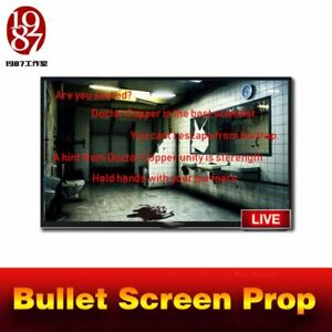escape room game prop bullet screen prop to get the clues from computer barrage