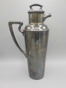 Vtg Art Deco L.B.S.Co. Silverplate Cocktail Shaker 1933 Presentation Award