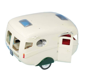 Caravan Family Camper Toy Camping RV Trailer For Dolls Girls Calico Critters