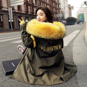 Fashion Embroidery Down Jacket Long Sections New Winter Loose Thicken Parka Coat