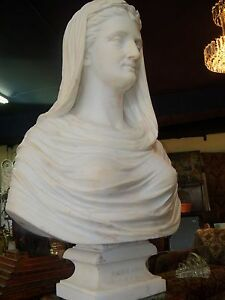 HORATIO STONE   SIGNED RARE MARBLE BUST