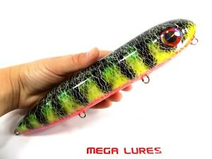 No537 Mega Bullet Walk the Dog Surface Handmade Fishing Lure Pike Bass Musky
