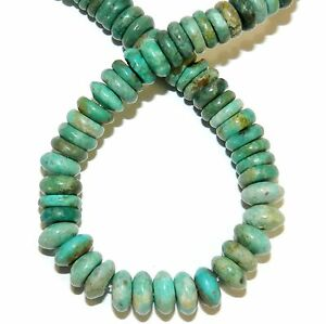 T1416 Green Turquoise Graduated Rondelle 4mm - 8mm Gemstone Beads 15
