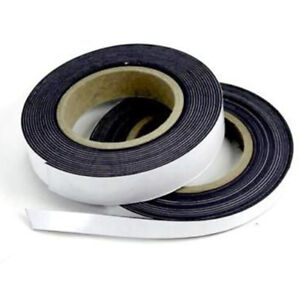 Self Adhesive Magnetic Tape Flexible Craft Sticky Magnet Strip Width 125 25mm $1.88
