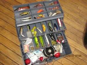 Fishing: Wood Stream Black Hawk Tackle Box Loaded With Lures & More. Must See