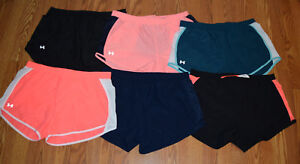 NWT Womens UNDER ARMOUR Peach Coral Black Blue Fly By Running Shorts S M L XL