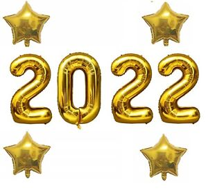 40 Inch Gold 2020 Number Foil Balloon New Year Eve Graduation Party Decor Star