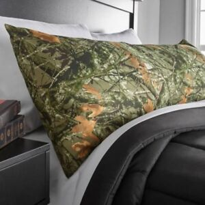 Microfiber Body Pillow Cover Case Polyester Unisex Bed Bedding Green Camouflage $10.49