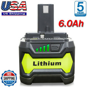 6.0Ah For RYOBI P108 18V One Plus High Capacity Battery 18 Volt Lithium Ion New