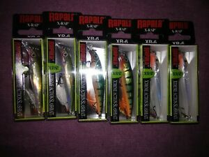 Lot of (6) Xrap-6 Lures in 3 different colors xr-06 *** Hurry***