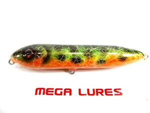 No540 Mega Bullet Walk the Dog Surface Handmade Fishing Lure Pike Bass Musky