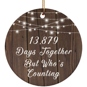 Xmas Christmas Tree Decor-ation, 38th Anniversary 13,879 Days Together But Who's