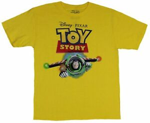 Toy Story Mens T Shirt Buzz Lightyear Pixar Style Flying Under Logo $14.98
