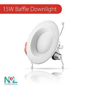 1 72 X 5 6 inch 15W Recessed DownLight Baffle LED Dimmable Retrofit Can Light