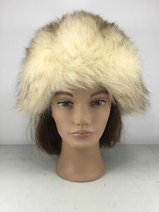 Gorgeous Splendid 22 inches vintage NORWEGIAN Fox women men real fur hat G06