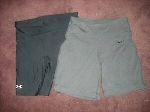 Womens Girls Under Armour NIKE Volleyball Shorts Lot 2 Size XSS
