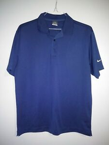 MENS NIKE GOLF SHIRT DRI-FIT UV M Navy