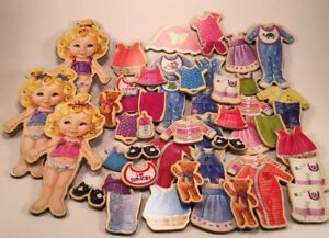 Magnetic Doll Dress Up Play Set + 35 Pieces Clothing And accessories (Q2)